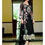 Black Georgette Dress Material With Dupatta