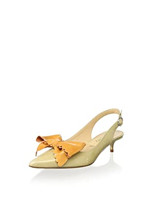 Butter Women's Sherwood Pointed-Toe Bow Slingback (Nude/Apricot)