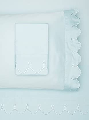 Belle Époque Scalloped Embroidered Sheet Set