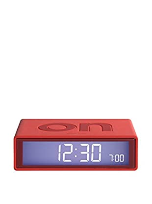Lexon Flip Clock, Warm Red