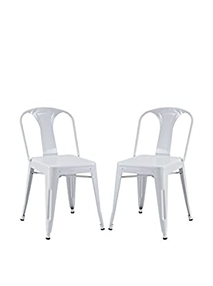 Modway Set of 2 Reception Dining Side Chairs, White
