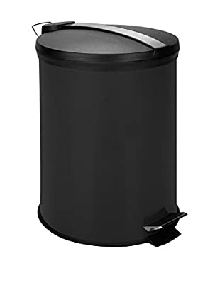 Honey-Can-Do 12L Step Trash Can, Black/Stainless