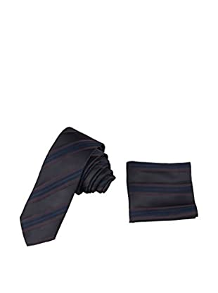 GIORGIO DI MARE Set: Einstecktuch + Krawatte   Marrón Oscuro