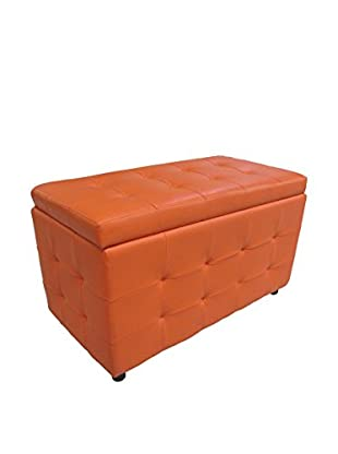 Evergreen Home Sitzbank mit Stauraum orange