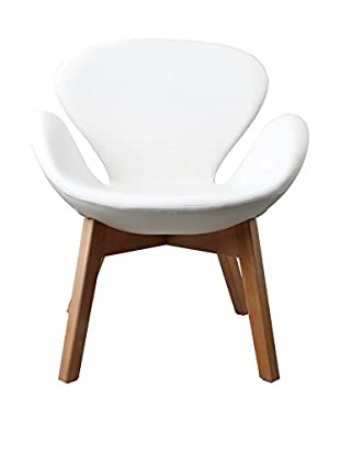 LO+DEMODA Sessel Swan Wood Arms weiß