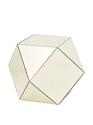 Three Hands Wood Mirrored Accent Table, Gold