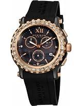 Akribos Chronograph Black Ceramic Ladies Watch Ak545Bk