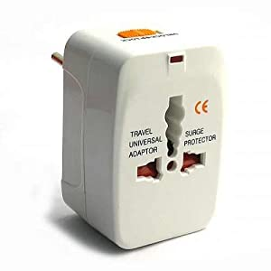 Universal World Wide Travel Plug Adapter - White [Electronics]