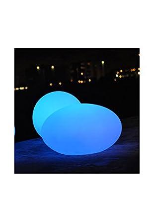 Artkalia Ballia Wireless LED Small Ball & Flat Oval Set, White Opaque