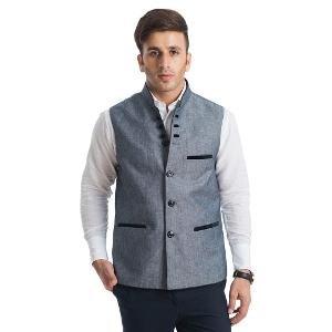 English Channel Nehru Jacket - Grey