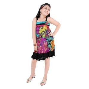 Jazzup Girl's Dress - Multicoloured