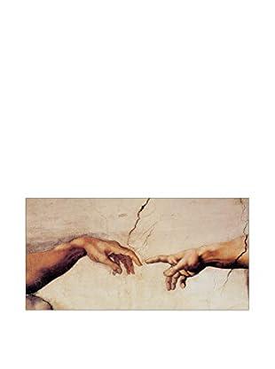 ArtopWeb Panel de Madera Michelangelo La Creazione Di Adamo 50x100 cm