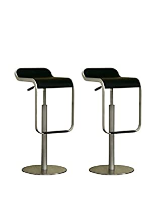 Baxton Studio Set of 2 Clizia Barstools, Black