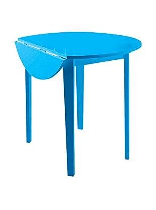 Klapptisch blau 91,5 x 76H cm