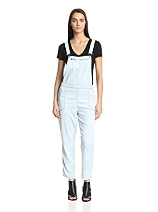 BLANKNYC Women's Tencel Overall with Mesh Insert