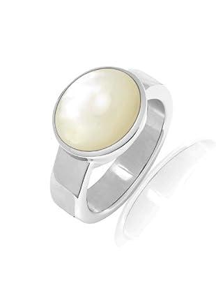 Nahla Jewels Ring Sterling Silber Perlmutt (weiß)
