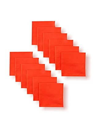 Garnier-Thiebaut Set of 12 Confetti Napkins, Vermillion