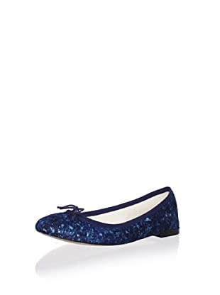 REPETTO Women's BB Speckled Ballet Flat (Dark Blue)