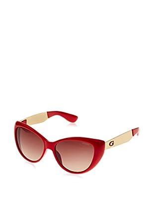 Guess Occhiali da sole GU7372 (56 mm) Rosso Scuro
