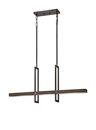 Nuvo Lighting Frame 3-Light LED Pendant, Hazel Bronze/Frosted Glass