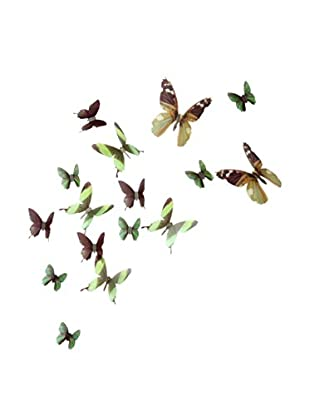 Ambiance Live Wandtattoo 18 tlg. Set 3D Adhesive Butterflies Chic translucid