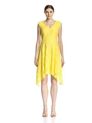 Sandra Darren Women's V-Neck Lace Dress