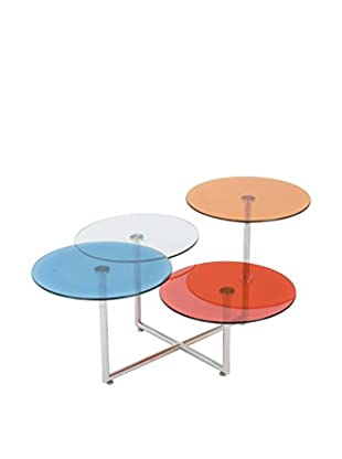 Eurostyle Grayson Glass Coffee Table, Blue