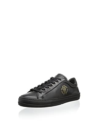 Roberto Cavalli Men's Elegant Low-Top Sneaker (Black)