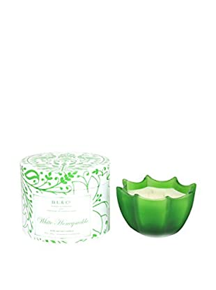D.L. & Co. White Honeysuckle 10-Oz. Scallop Candle