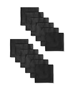 Garnier-Thiebaut Set of 12 Confetti Napkins, Black