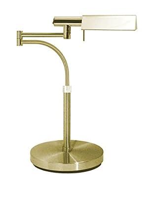 Sonneman Lighting E-Tenda Swing-Arm Table Lamp, Satin Brass