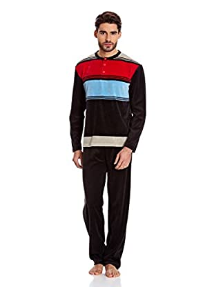 Muslher Pijama Caballero Con Tapeta Rapport (Negro)