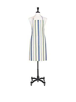 KAF Home Vintage-Stripe Apron, Blue/Green