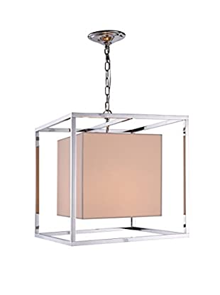 Urban Lights Quincy 2-Light Pendant Lamp, Polished Nickel