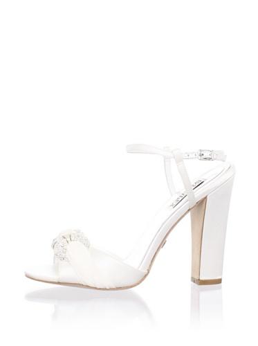 Badgley Mischka Platinum Women's Jeweled Sandal (White)