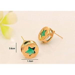 Varishta Jewells Pentagram Cylindrical Stud Earring