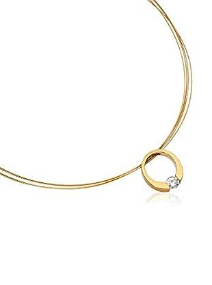steel art Halskette Turris goldfarben
