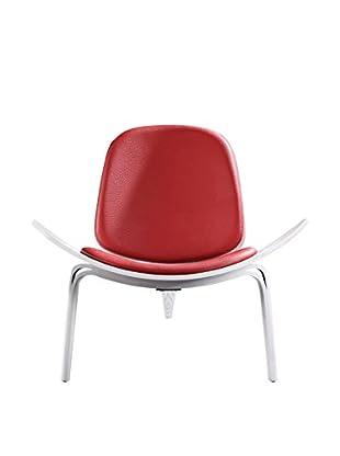 Ceets Oblique Leisure Chair, Red