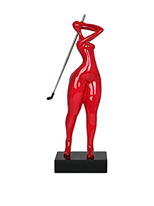 Arte Dal Mondo Figur Giocatrice Di Golf Piccola
