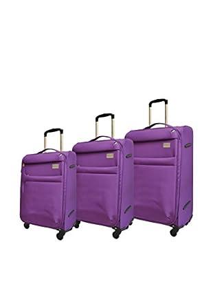 Adrienne Vittadini High Density 3-Pc Luggage Collection, Purple