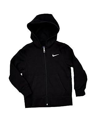 Nike Sweatjacke Brushed Zwart
