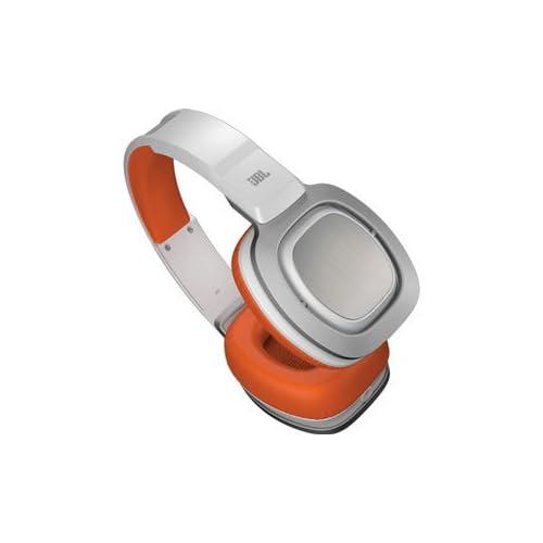 JBL Premium over-ear J88 (WHITE/ORANGE) J88WORの写真01。おしゃれなヘッドホンをおすすめ-HEADMAN(ヘッドマン)-