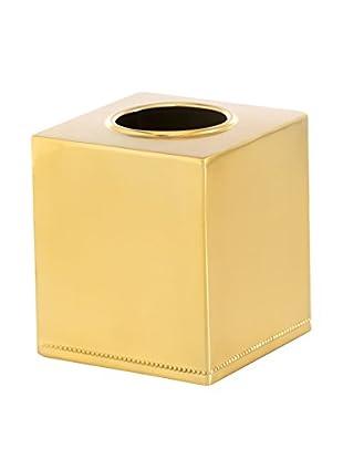 Shiraleah Vichy Tissue Box Cover, Gold