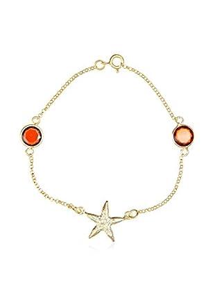 My Silver Pulsera Estrella Rojo
