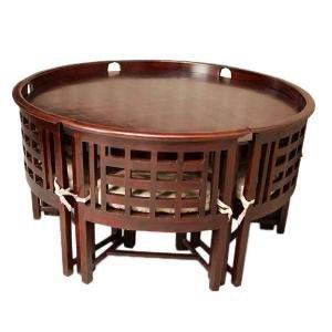 Induscraft Designer 6 Seater Round Dining Table Set