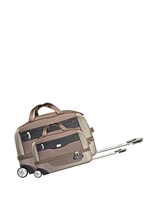 Potiron 2er Set Trolley Tasche Cokpit braun