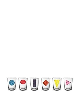 Bitossi Home Glas 6er Set Glass Beer mehrfarbig