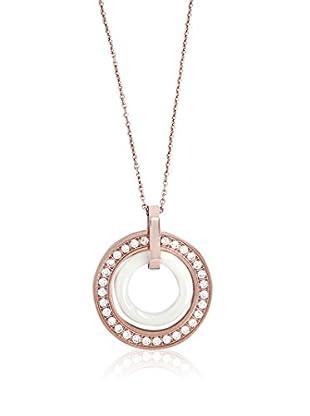 ART DE France Collar Double Rings Blanco / Rosado