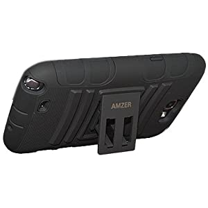 Amzer 95156 Hybrid Kickstand Case for Phone