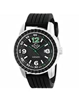 Gv2 By Gevril Lucky 7 Black Ip Steel Case Black Dial Automatic Self Wind Mens Watch 9304